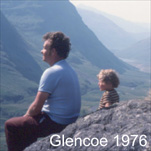 Alan with his Dad in Glencoe