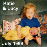 Katie & Lucy Davies - July 1999
